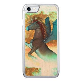 Wunderbares dunkles Einhorn Carved iPhone 8/7 Hülle