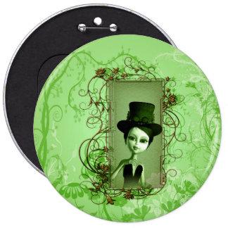 Wunderbares, niedliches Mädchen Runder Button 15,3 Cm