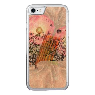 Wunderbares panflute mit Rosen ein weicher Carved iPhone 8/7 Hülle