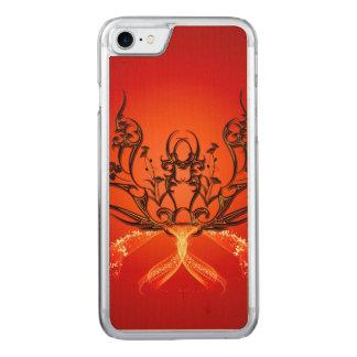 Wunderbares Stammes- mit Blumen Carved iPhone 8/7 Hülle