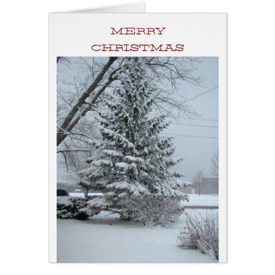 Wunderbares Weihnachten, Snowy-Kiefer Karte