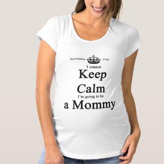 Wunderlich Mama-Zu-Seien Sie kann ruhiges helles Umstands-T-Shirt