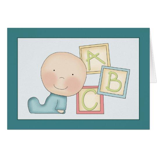 Wunderliche Baby-Glückwunsch-Karte Grußkarte