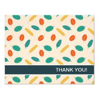 Wunderliche Blatt-Muster-Ebene danken Ihnen Karten 10,8 X 14 Cm Einladungskarte