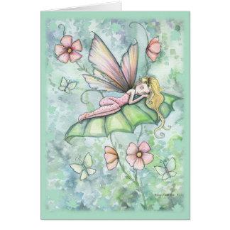 Wunderliche Blumen-feenhafte Gruß-Karte Karte