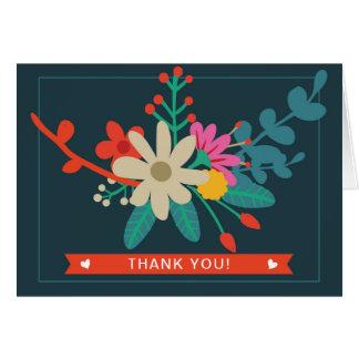 Wunderliche Blumen gefaltet danken Ihnen Karten
