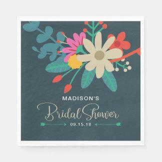Wunderliche BlumenBrautparty-Servietten Papierserviette