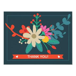Wunderliche Blumenebene danken Ihnen Karten 10,8 X 14 Cm Einladungskarte