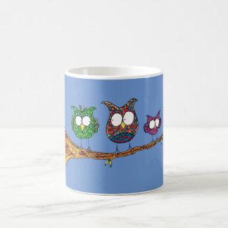 Wunderliche Eulen-Tasse Tasse