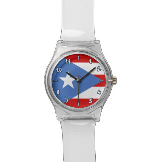 Wunderliche Flagge von Puerto Rico: Traditionell Armbanduhr