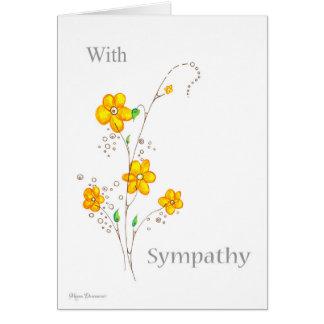 Wunderliche gelbe Blume mit Beileids-Karte Karte