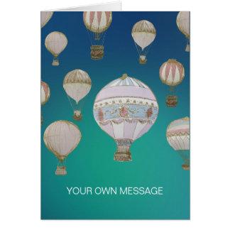 Wunderliche Heißluft-Ballone Karte