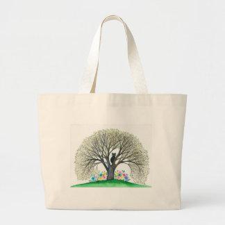 Wunderliche Katze Bostons in der Baum-Tasche Jumbo Stoffbeutel
