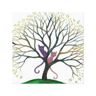 Wunderliche Katzen Marylands im Baum Leinwanddruck
