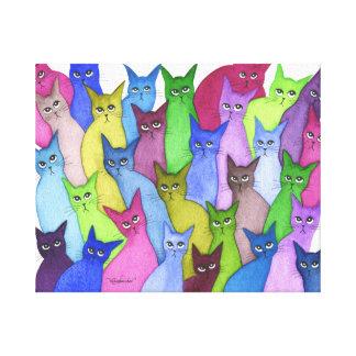 Wunderliche Katzen Minnesotas Leinwanddruck
