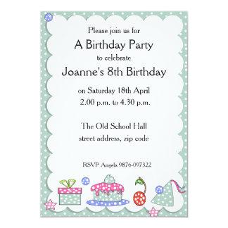 Wunderliche Kindergeburtstags-Einladung 12,7 X 17,8 Cm Einladungskarte