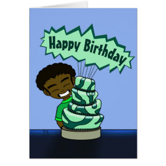 Wunderliche Kuchen-Geburtstags-Karte Karte