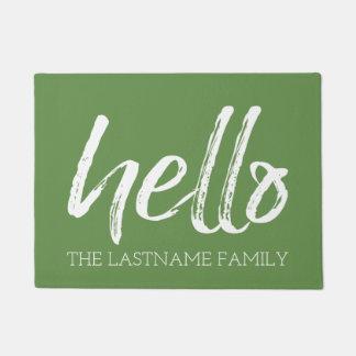 Wunderliche kundenspezifische Familie hallo - KANN Türmatte