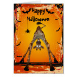 Wunderliche lustige Giraffen-Halloween-Karte