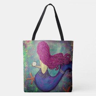 Wunderliche Meerjungfrau-Taschen-Tasche mit Tasche