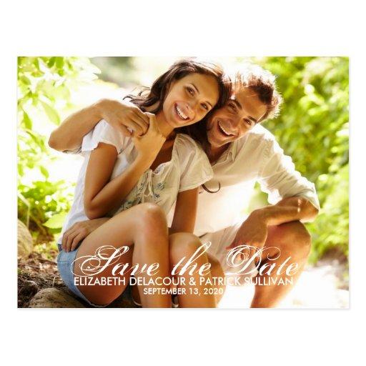 Wunderliche Skript-Save the Date Foto-Karten-Postk Postkarte