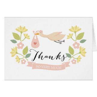 Wunderliche Storch-Babyparty danken Ihnen Karte