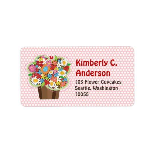 Wunderliche süße Kuchen-Frühlings-BlumenblumenChic Adressaufkleber