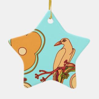 Wunderliche Vögel (irgendeine Farbe, die Sie! Keramik Ornament