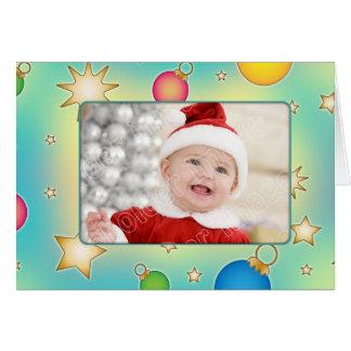 Wunderliche Weihnachtskarte mit Flitter und Karte