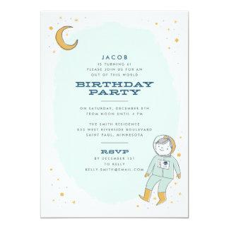 Wunderliche Weltraum-Geburtstags-Party Einladung