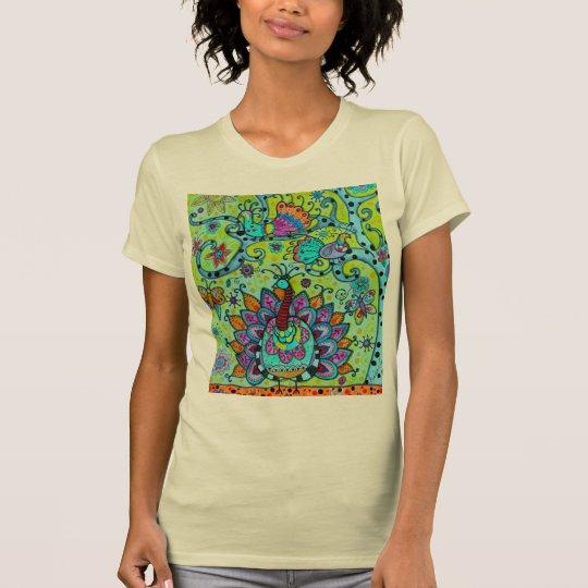 WUNDERLICHER BAUM DES LEBEN-VOGEL-MALENS T-Shirt