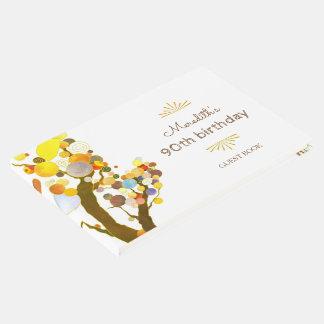 Wunderlicher Baum-Meilenstein-Geburtstag Gästebuch