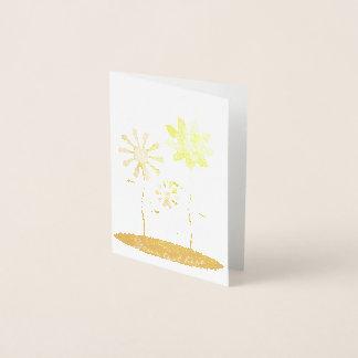 Wunderlicher Blumen-Goldfolien-Druck Folienkarte