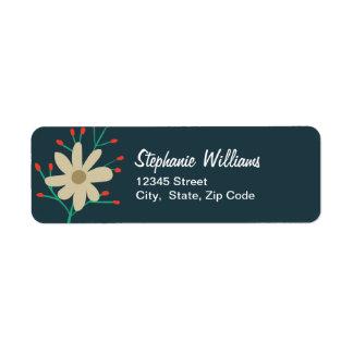 Wunderlicher BlumenRücksendeadressen-Aufkleber Kleiner Adressaufkleber