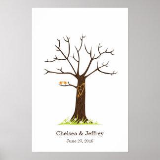 Wunderlicher Fingerabdruck-Baum mit Poster