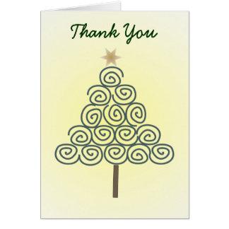Wunderlicher gewundener Baum danken Ihnen zu Karte