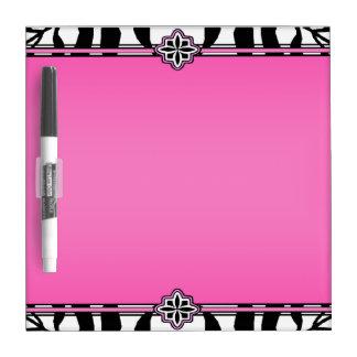 Wunderlicher hübscher rosa Zebra-Druck Memoboard