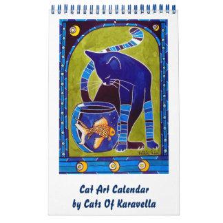 Wunderlicher Katzen-Kunst-Kalender 2018 für Kalender