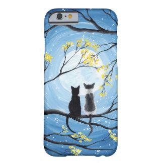 Wunderlicher Mond mit Katzen Barely There iPhone 6 Hülle