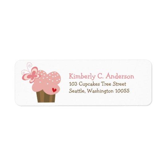 Wunderlicher rosa Rückversand-Adressaufkleber