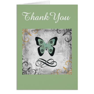 Wunderlicher Schmetterlings-grafische Kunst danken Karte