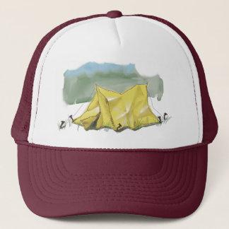Wunderlicher Zelt-Illustrations-Hut Truckerkappe