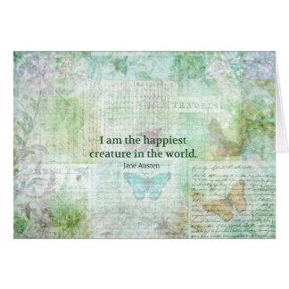 Wunderlicher Zitat Jane Austens Stolz und Grußkarte