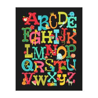 Wunderliches Alphabet für Kinder dehnte Leinwanddrucke