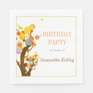 Wunderliches Baum-Geburtstags-Party Papierservietten
