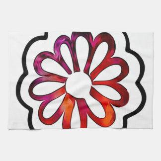 Wunderliches Blumen-Power-Gekritzel Küchentuch