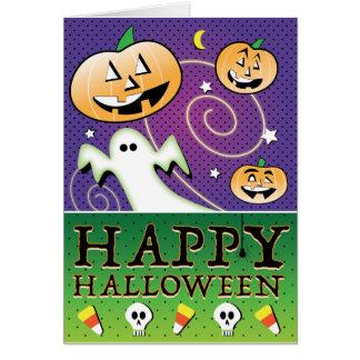Wunderliches Halloween, Retro Karte