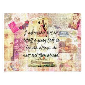 Wunderliches niedliches Reisezitat Janes Austen Postkarte