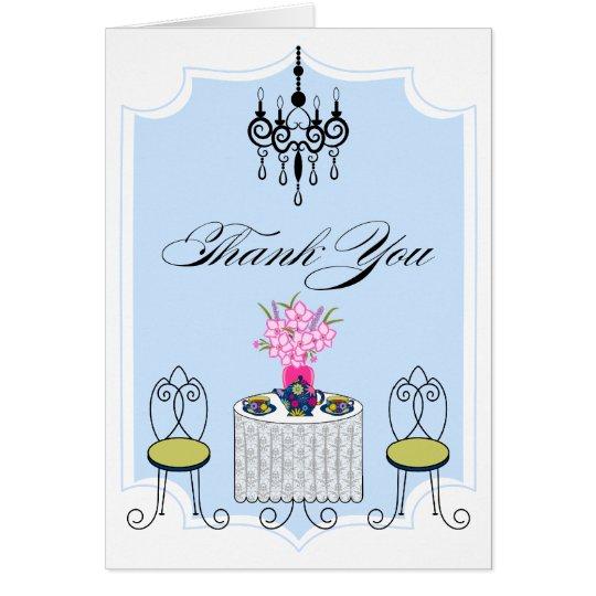 Wunderliches Tee-Party danken Ihnen Karte