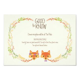 Wunderliches Waldland Foxes das Elfenbein, das Karte